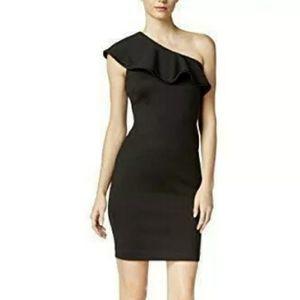 Calvin Klein Black one shoulder dress size 14 nwt